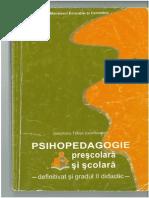 Psihopedagogie Prescolara Si Scolara Gr Didactic 2 Ghe Tomsa