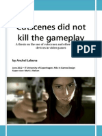 Cutscenes Did Not Kill the Gameplay - A thesis on the use of cutscenes and other storytelling devices in video games