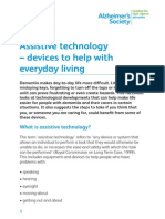 Assistive Technology Devices to Help With Everday Living Factsheet