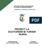 proiect la ecoturism si  turism rural