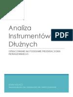 Analiza Instrumentów Dłużnych - Teoria