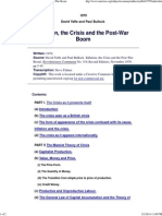 Yaffe and Bullock - Inflation, The Crisis and the Post-War Boom