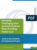 Guide Managing Challenging Interpersonal Situations