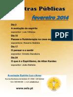 Palestras públicas fevereiro 2014
