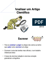 2012 Como Escrever e Analisar Um Artigo Cientc3adfico