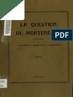 [1919] a. Radovitch, R. Bochkovitch, I. Voukotitch - La Question Du Montenegro