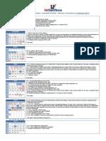 Calendario Primeiro Sem 2014