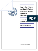 Intropharma-Documents-Improving Patient and Health System Outcomes-Advanced Pharmacy Practice Report to the Surgeon General 2011 Final