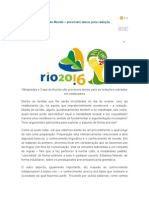 Olimpíadas e Copa do Mundo