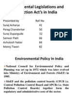 Environmental Legislations and Protection Act's in India