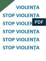 STOP VIOLENȚA