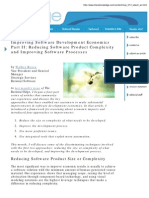 Improving Software Development Economics Part i i May 01