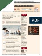 Matemáticas y liderazgo son lo más crítico para el empresariado - Empleo y Management _ Gestión