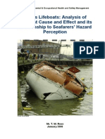 Ship's Lifeboats- Analysis of Accident Cause and Effect and its Relationship to Seafarers' Hazard Perception