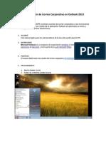 Configuración de Correo Corporativo Outlook 2013