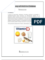Deficiency of Vit-D in Children INTRODUCTION