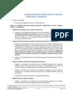 Recaudos Adicionales Cuentas Personas Juridicas Banco Activo
