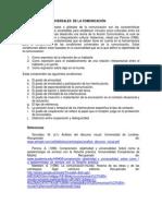 LAS CONDICIONES UNIVERSALES  DE LA COMUNICACIÓN (1)