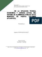 Estudio Sist Alumbrado Puerto Colombia