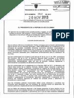 Decreto 2613 Del 20 de Noviembre de 2013 Consulta Previa