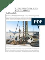 PILOTES DE CIMENTACIÓN IN SITU