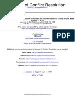Journal of Conflict Resolution 1972 Azar 183 201