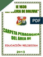Carpeta Pedagogica Religion