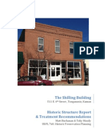Historic Preservation Report--Tonganoxie's Shilling Electric Building