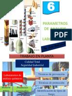 Parametros de Analisis en Planta
