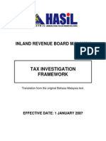 Tax Investigation Framework
