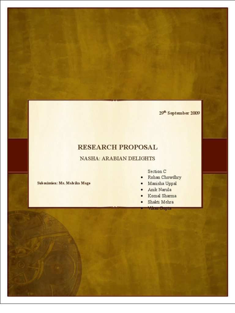 Phd research proposal on marketing