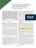 NiCr MEMS Tactile Sensors Embedded in Polyimide Toward Smart Skin