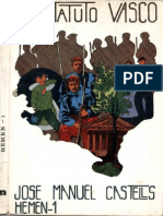 Castells, JM - El Estatuto Vasco. 1976