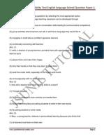 Tet-ctet Teacher Eligibility Test English Language Solved Question Paper-1