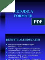 METODICA FORMĂRII