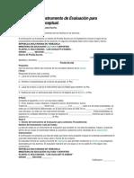 Diseño de Instrumento de Evaluación para contenido