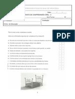 Teste de Compreens. oral nº 2 -  5º LP
