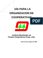 Guia Para La Organizacion de Cooperativas
