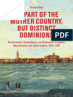 Dominik Nagl, No Part of the Mother Country, but Distinct Dominions Rechtstransfer, Staatsbildung und Governance in England, Massachusetts und South Carolina, 1630 - 1769