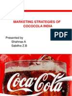 Marketing Strategies of Cococola