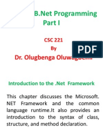 C# and VB-Net Lecture I