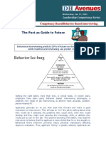 Competency Based-Behaviour Based Interviewing