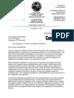 Attorney General Pam Bondi Ethics Complaint No. 13-201 dismissed