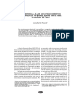 A substancialidade dos procedimentos oligárquicos no BRasil entre 95 e 98 - Zezé