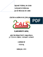 Caderno de Textos - Planejamento CALS 2013