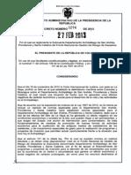 Decreto 294 de 2013