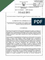 Decreto 1870 de 2013