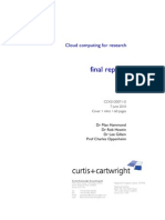 Cc421d007-1.0 Cloud Computing for Research Final Report