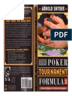 Arnold Snyder Poker tournament formula 2