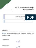 Analysis of Velocity